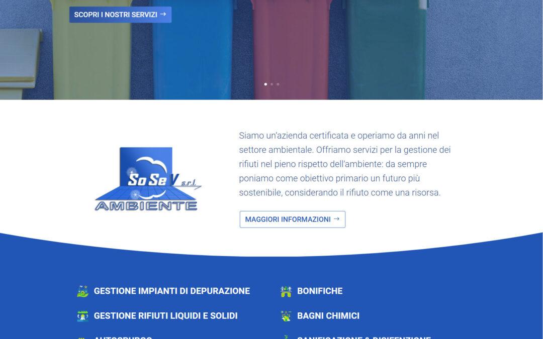 Nuovo sito web SoSev Ambiente Online